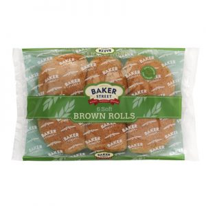 Buy Baker Street 6 Soft Brown Rolls by Carrs Bakery