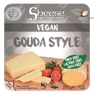 Buy  Sheese 100 Dairy Free Cheese Gouda Style Block 200g by Bute Islands