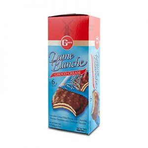 Buy Dame Blanche Cocoa Cream Biscuits 6 Packs 180g by Gross