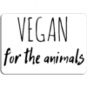 Buy  Vegan for the Animals Magnet by TheVeganKind